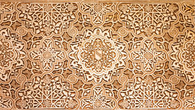 Arabic pattern texture at Alhambra palace Stock Photo