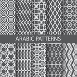 Arabic patterns. 10 arabic, islamic  patterns,  Pattern Swatches, vector, Endless texture can be used for wallpaper, pattern fills, web page,background,surface Stock Photography