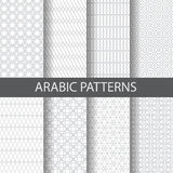 8 arabic patterns. 10 arabic, islamic patterns, Pattern Swatches, vector, Endless texture can be used for wallpaper, pattern fills, web page,background,surface stock illustration