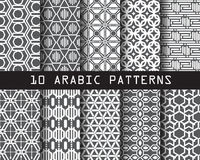 10 arabic patterns. Pattern Swatches, vector, Endless texture can be used for wallpaper, pattern fills, web page,background,surface stock illustration