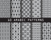 10 arabic patterns3. 10 arabic patterns, Pattern Swatches, vector, Endless texture can be used for wallpaper, pattern fills, web page,background,surface Royalty Free Illustration