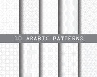 10 arabic patterns Royalty Free Stock Photography