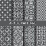 8 arabic patterns Stock Photo