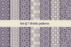 Arabic patterns set Stock Image