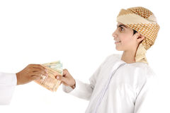 Arabic people, islamic zakat Royalty Free Stock Photos