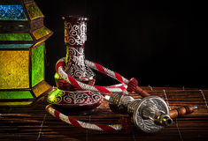 Arabic pipe and lamp Royalty Free Stock Images