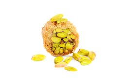 Arabic pistachios sweets Royalty Free Stock Images