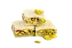 Arabic pistachios sweets Stock Images