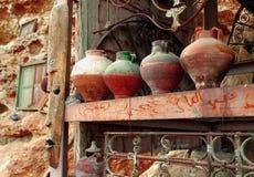 Arabic pitcher, pottery Stock Image