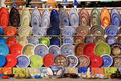 Arabic porcelain. Handwork. Color china Stock Images