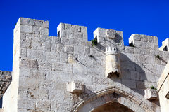Arabic Quarter Gate, Old City Wall, Jerusalem Royalty Free Stock Photography