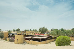 Arabic restaurant view in amazing beautiful desert luxury resort Royalty Free Stock Images