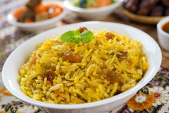 Arabic rice. Ramadan food in middle east usually served with tandoor lamb. Middle eastern food Royalty Free Stock Image
