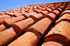 Arabic roof tiles pattern texture in Teruel Stock Photos
