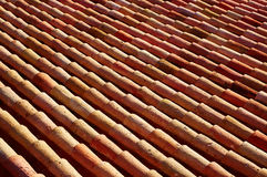 Arabic roof tiles in Teruel of Spain Stock Image