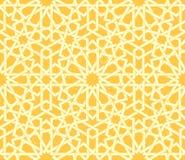 Arabic rosette seamless pattern Stock Photos