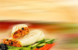 Arabic sandwich. Bread with background Royalty Free Stock Image