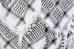 Arabic scarf, keffiyeh texture background. Arabic scarf, keffiyeh black and white texture background Royalty Free Stock Photography