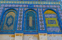 The arabic screens of the Dome of the Rock Royalty Free Stock Photography