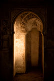 Carved archways in Alhambra, Granada Royalty Free Stock Photography