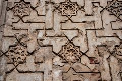 Arabic scriptures on the wall. Of the Alhambra Stock Images