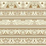 Arabic seamless borders Stock Image
