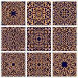 Arabic seamless floral pattern set for tile design Royalty Free Stock Photos