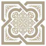 Arabic seamless ornament. Background with seamless pattern in Arabian style stock illustration