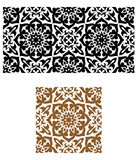 Arabic seamless ornament in retro Royalty Free Stock Images