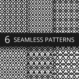 Arabic seamless ornamental vector patterns. Islam architecture endless decoration. Background pattern seamless in arabic geometric monochrome Stock Illustration