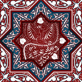 Arabic Seamless Pattern with bird Phoenix Royalty Free Stock Images