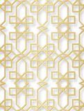 Arabic seamless pattern with 3D effect for the festive design of the brochure, website, print. Vector illustration. Vector arabic seamless pattern illustration Royalty Free Stock Photos