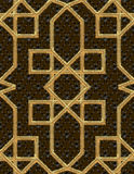 Arabic seamless pattern embroidery with gold thread style. Traditional arab geometric decorative background Vector Stock Photos