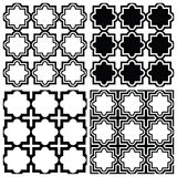 Arabic seamless pattern set - Islamic repetitive design Royalty Free Stock Photos