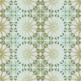 Arabic seamless pattern. Traditional Islamic mosque window with gold grid mosaic Royalty Free Stock Images