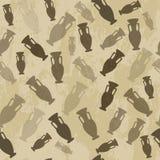 Arabic seamless pattern vase Royalty Free Stock Images