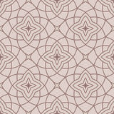 Arabic seamless patterns. Beige ornaments for textile and fabric Stock Images