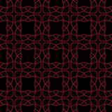 Arabic seamless patterns. Black and red ornaments for textile and fabric Stock Photos