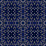 Arabic seamless patterns. Blue and golden ornaments for textile and fabric Stock Photography
