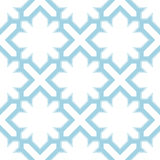 Arabic seamless patterns. Blue and white ornaments for textile and fabric Stock Images