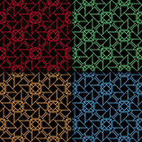 Arabic seamless patterns. Colored ornaments for textile and fabric Stock Photo