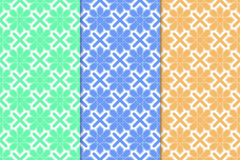 Arabic seamless patterns. Colored ornaments for textile and fabric Royalty Free Stock Images