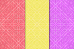 Arabic seamless patterns. Colored ornaments for textile and fabric Royalty Free Stock Photos