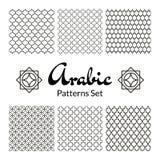 Arabic seamless patterns set Royalty Free Stock Images