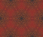 Arabic seamless vintage dark pattern, vector Stock Photo