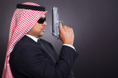 Arabic secret detective Stock Image