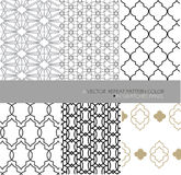 Arabic set 6 repeat pattern modern abstract  background. Vector pattern,fabric print design, seamless creative geometric , color decor pattern background Stock Photos