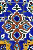Arabic shape. Colorful detail from Iranian mosque in Dubai Stock Photo