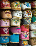 Arabic shoes. Beautiful shoes selling on a middle east market Royalty Free Stock Photos