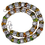 Arabic silver and jade necklace Royalty Free Stock Images